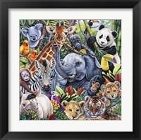 Framed Jungle Babies