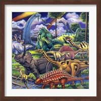 Framed Dinosaur Friends