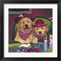 Framed Poker Dogs