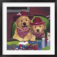 Framed Poker Dogs