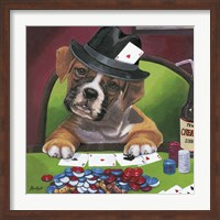 Framed Poker Dogs 2
