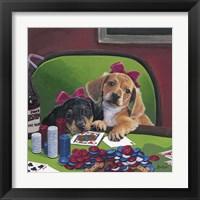 Framed Poker Dogs 3