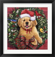 Framed Christmas Puppy