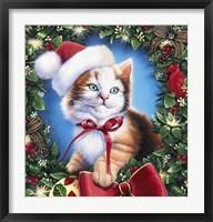 Framed Christmas Kitty