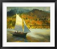 Framed Autumn Sail