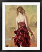 Girl in A Copper Dress 2 Framed Print