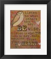 Framed Be Wise