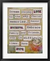 Framed Dream Everyday