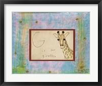 Framed G is For Giraffe