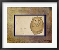 Framed L is For Lion