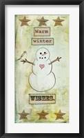 Framed Warm Winter Wishes