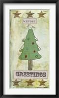 Winter Greetings Framed Print