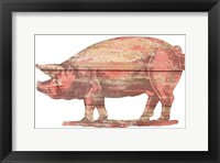 Framed Pig Cut Out