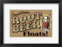 Framed Root Beer Floats