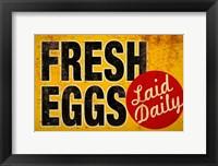 Framed Fresh Eggs