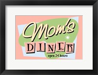 Framed Moms Diner Retro Pink