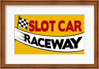 Framed Slot Car Raceway