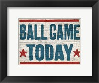 Framed Ball Game Today