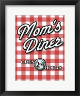 Framed Moms Diner Red Checkered