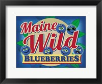 Framed Maine Wild Blueberries