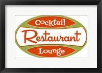 Framed Restaurant Cocktail Lounge