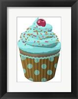 Framed Chocolate Cupcake Blue