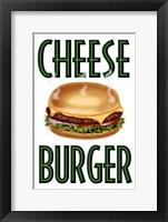 Framed Cheese Burger Vertical