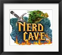 Framed Nerd Cave Dragon