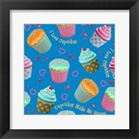 Framed Cupcake Blue