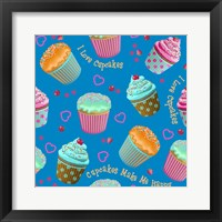 Framed Cupcake Blue