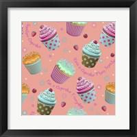 Framed Cupcake Coral