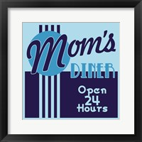 Framed Moms Diner 24 Hours In Blues