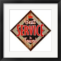 Framed Best Service Diamond