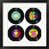 Framed 45 Records - Decades
