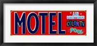 Framed Motel AC Pool TV
