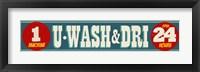 Framed U Washm And Dri