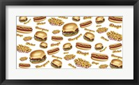 Framed Burgers Fries Dogs