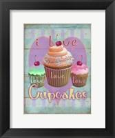 Framed I Love Cupcakes