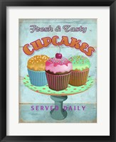 Framed Cupcakes Retro Fresh