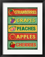 Framed Farm Stand Board - Fruit
