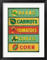 Framed Farm Stand Board - Veggies