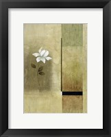 Framed White Flowers on Taupe 2