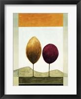 Lollipop Trees 1 Framed Print