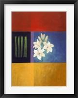 White Flower Abstract 2 Framed Print