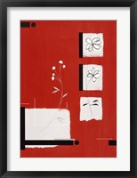 Red Abstract 1 Framed Print
