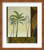 Framed Green Palms II