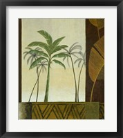 Framed Green Palms II