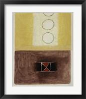 Dots and Crosses II Framed Print