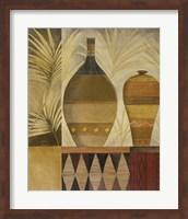 Framed African Vases I