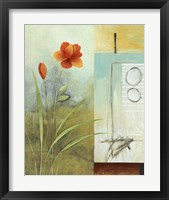 Asian Floral Abstract I Framed Print